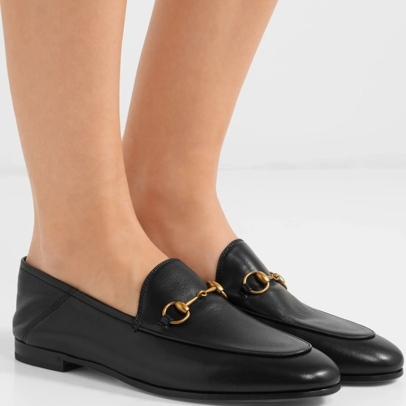 Gucci Brixton Leather Horsebit Loafers